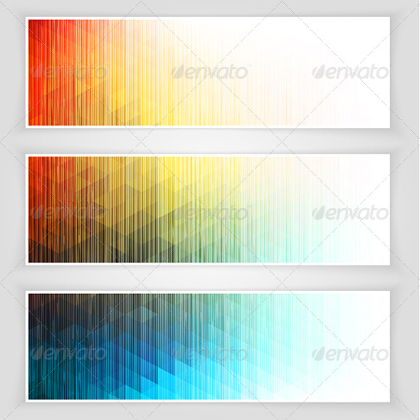 GraphicRiver Abstract Banners Collection 6557455