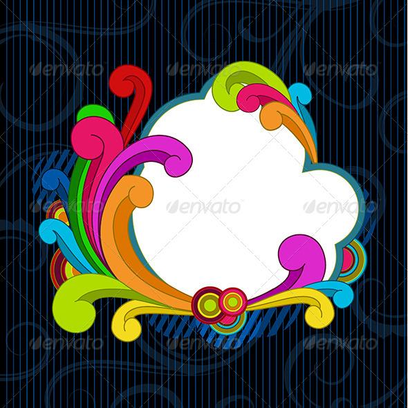 GraphicRiver Retro Style Scrolls Background 6557534