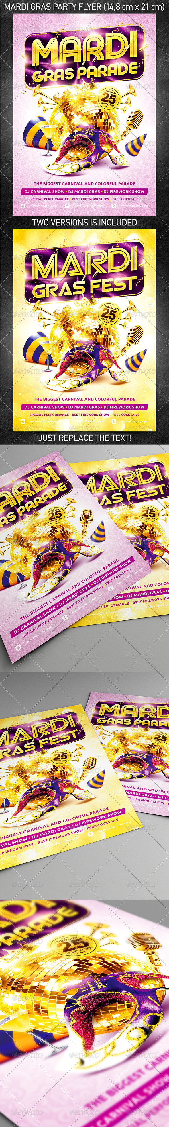 GraphicRiver Mardi Gras Party Flyer Vol.2 6557544