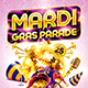 Mardi Gras Party Flyer Vol.2 - GraphicRiver Item for Sale