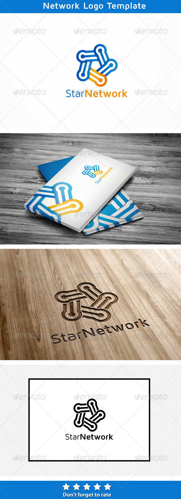 Star Network - Abstract Logo Templates