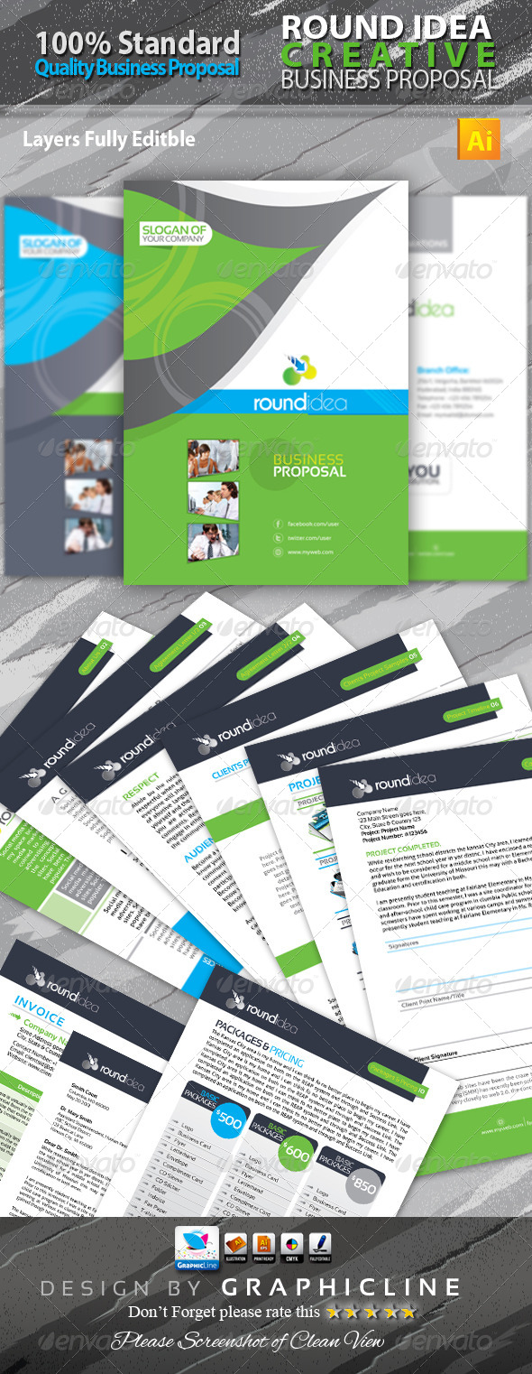 GraphicRiver Round Idea Business Proposal 6557631