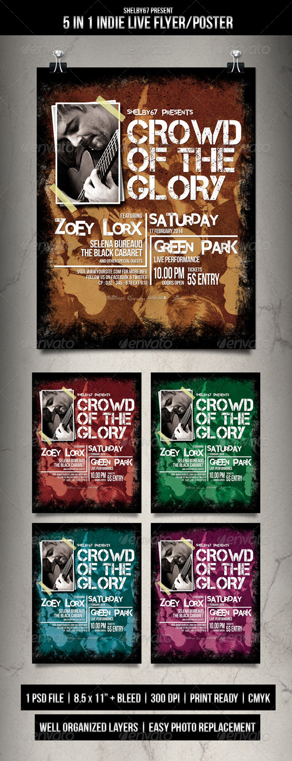 GraphicRiver Indie Live Flyer Poster 6557688