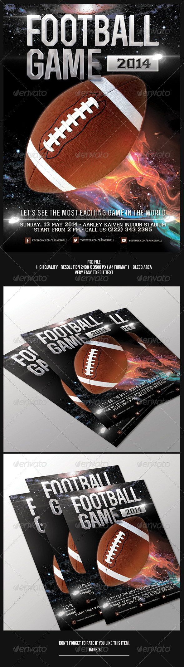 GraphicRiver Football Game Flyer 6557736