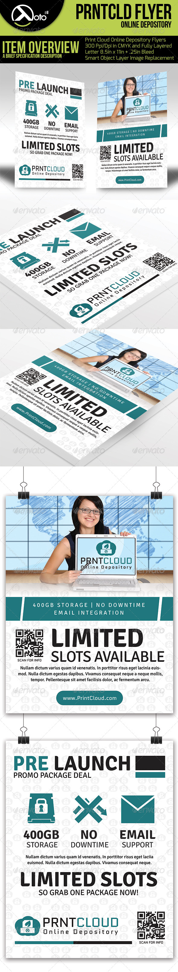 GraphicRiver Print Cloud Online Depository Flyers 6557798