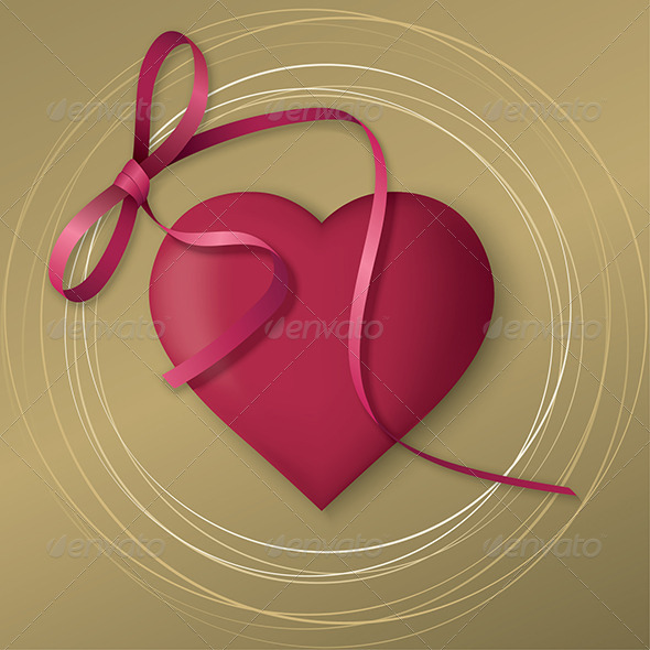 GraphicRiver Golden Valentine s Day Card 6557809