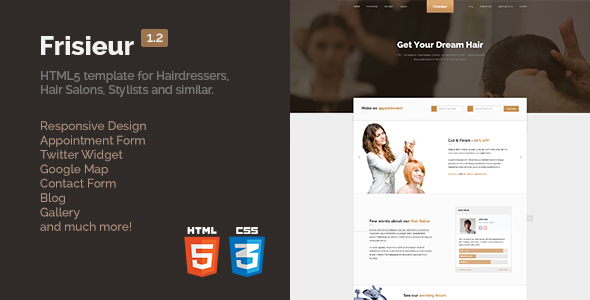 Frisieur - HTML5 Template for Hairdressers