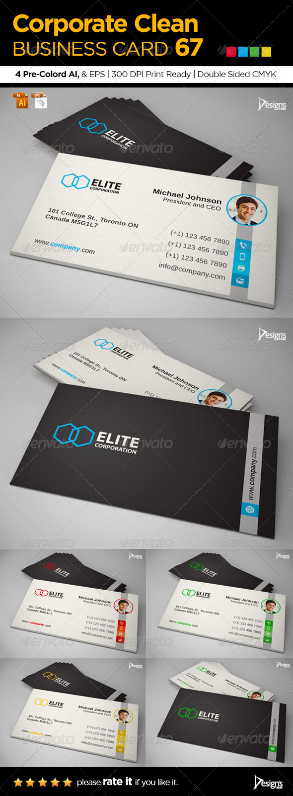 GraphicRiver Corporate Clean Business Card 67 6558797