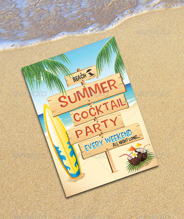GraphicRiver Summer Party Flyer's 6558883