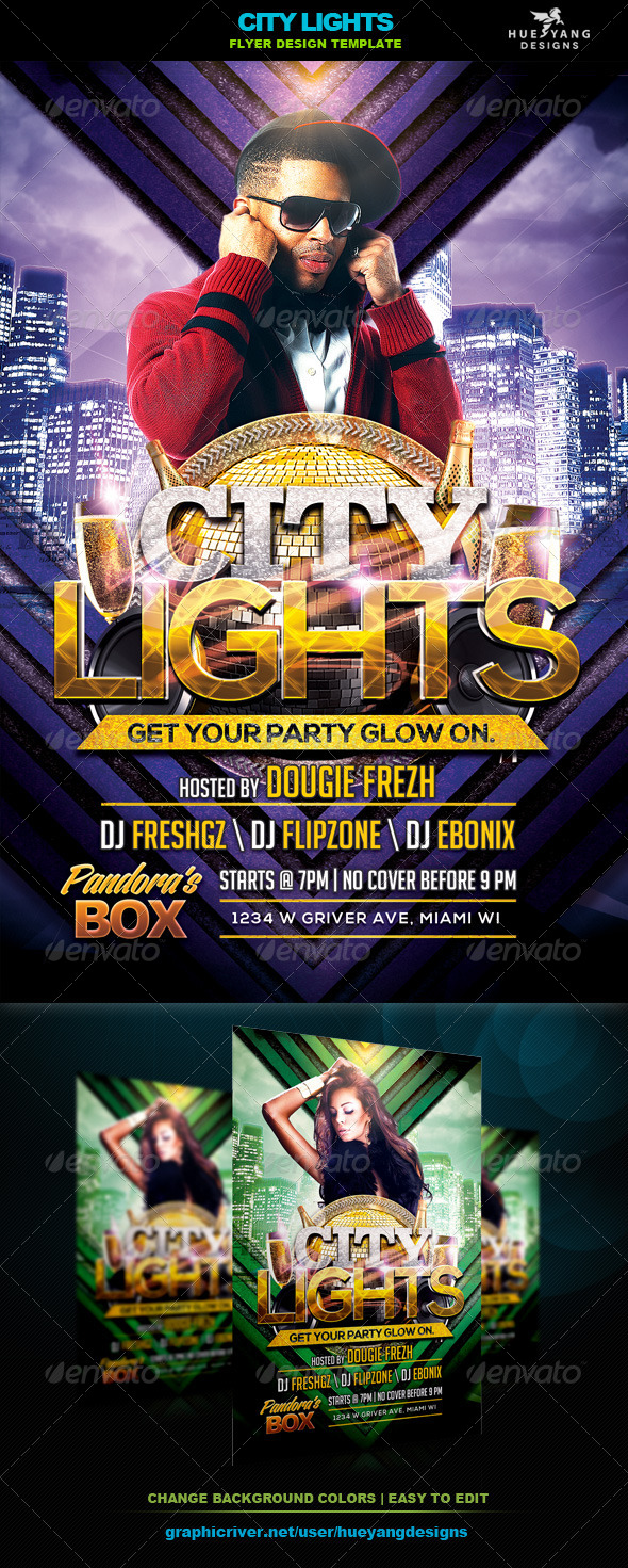 GraphicRiver City Lights Flyer 6558895