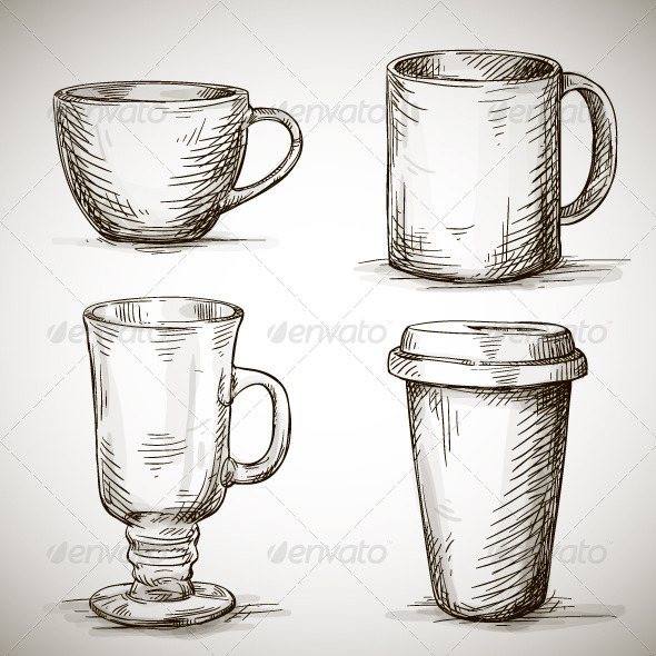 GraphicRiver Set of Coffee Mugs 6558903