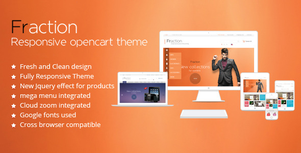 Fraction - Multi-Purpose Responsive Opencart Theme