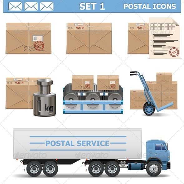 GraphicRiver Vector Postal Icons Set 1 6559027