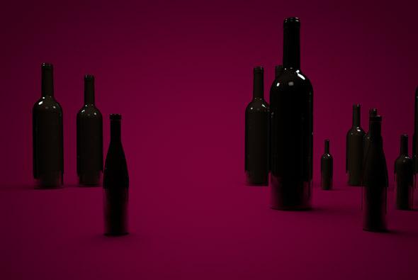3DOcean Wine Bottles Scenario 6559028