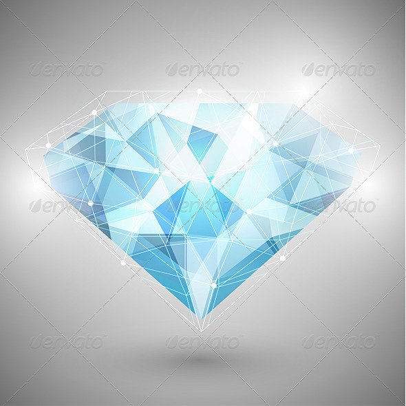 GraphicRiver Abstract Diamond with Outlines 6559295