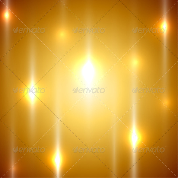 Golden Lights Abstract Background