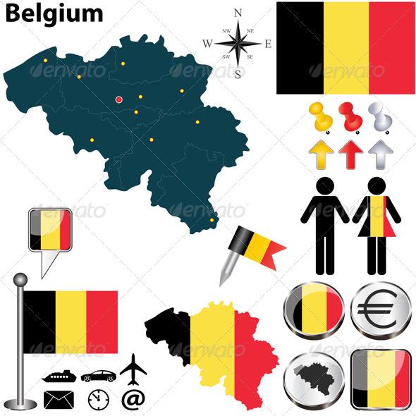 GraphicRiver Belgium Map 6559643