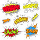 Grunged Multicolored Comic Sound Effects - GraphicRiver Item for Sale