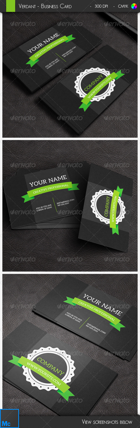 GraphicRiver Verdant Modern Business Card 6559771
