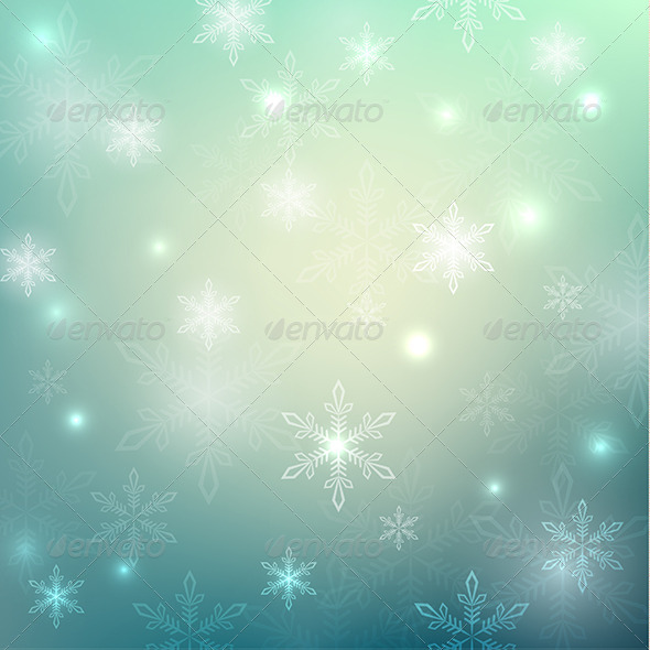 GraphicRiver Abstract Background with Snowflakes 6559895