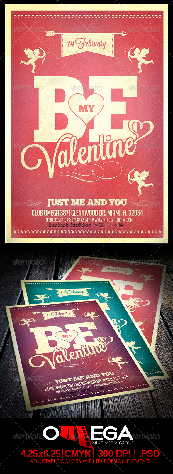 GraphicRiver Vintage Valentine 6549229