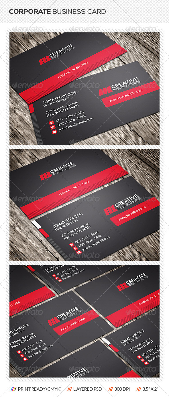 GraphicRiver Modern Corporate Business Card 6559934
