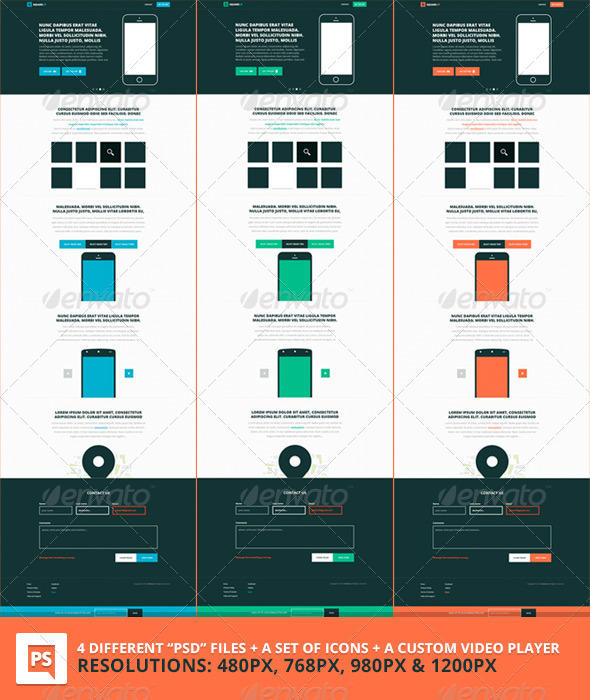 GraphicRiver Square PSD Boostrap Based Template 6560141