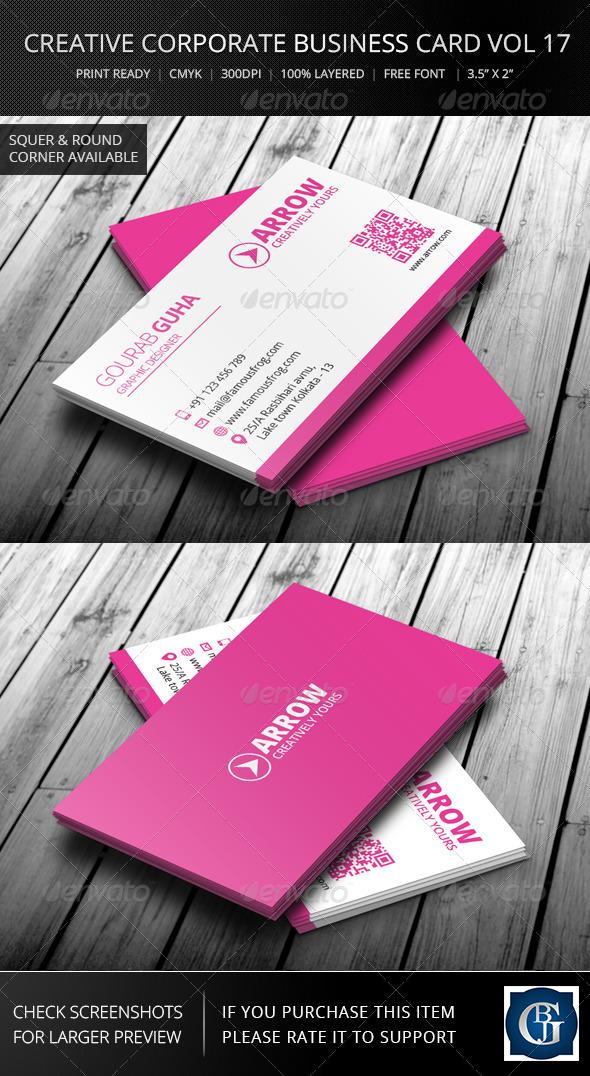Creative Corporate Business Card Vol 17 - Corporate Business Cards