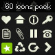 Pack of 60 Icons - GraphicRiver Item for Sale