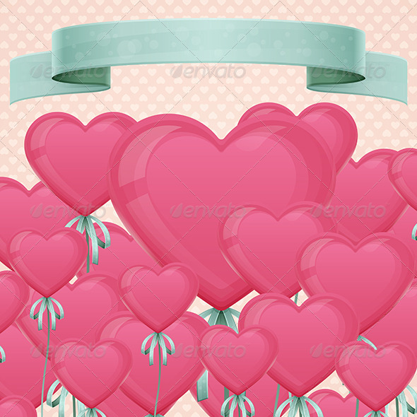 GraphicRiver Baloon Heart Card 6560543