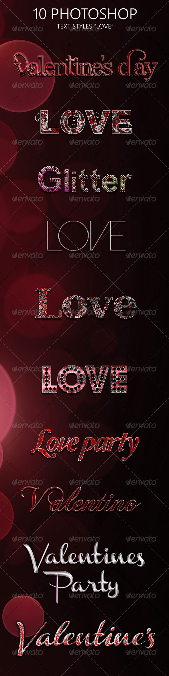 GraphicRiver 10 Love Photoshop Style 6560570
