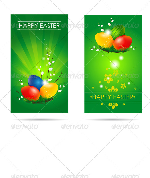 GraphicRiver Happy Easter Cards 6560573