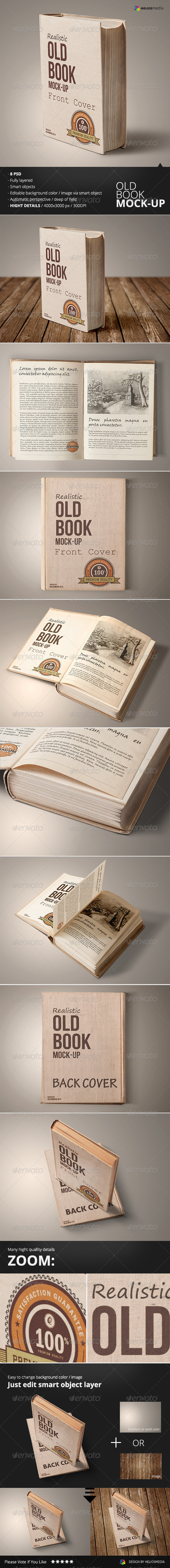GraphicRiver Old Book Mockup 6553642