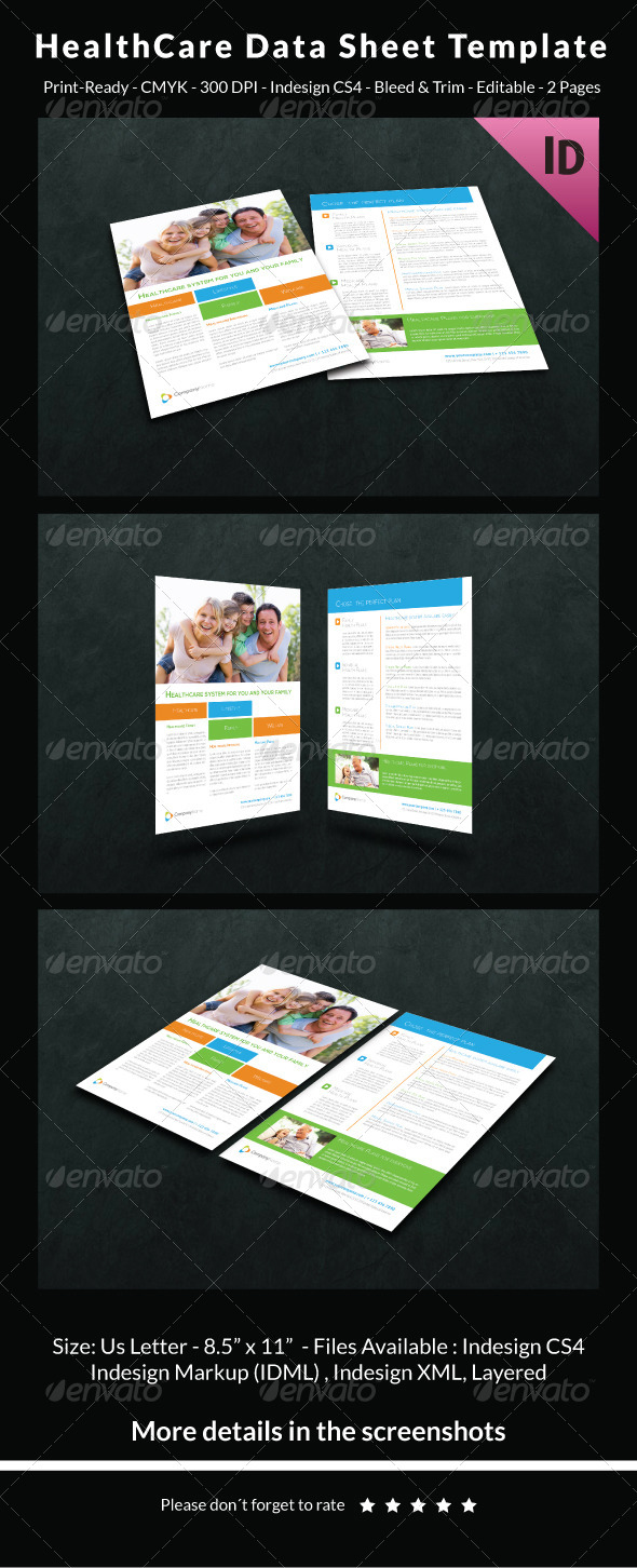 GraphicRiver HealthCare Data Sheet Template 6552811