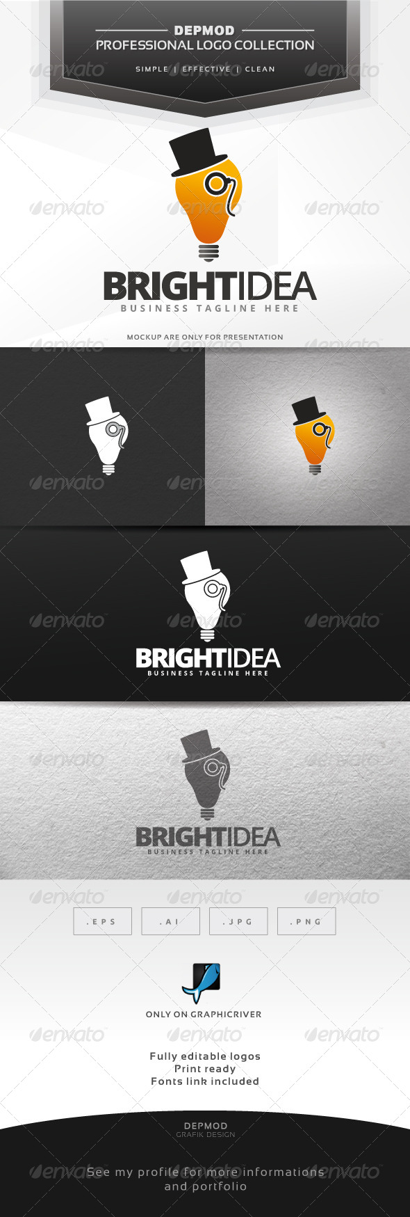 GraphicRiver Bright Idea Logo 6561278