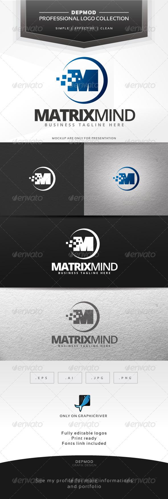 GraphicRiver Matrix Mind Logo 6561590