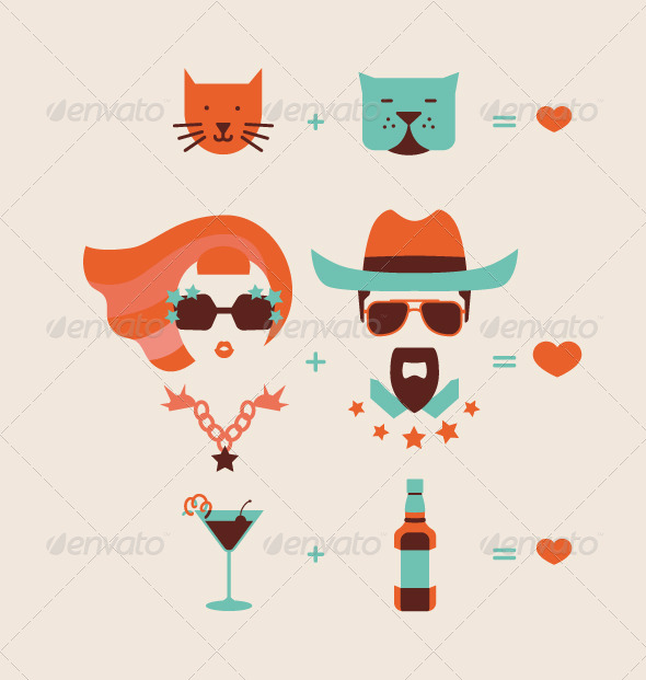 GraphicRiver Man and Woman Couple 6561678