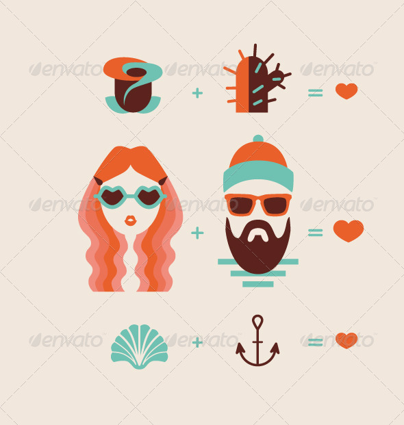 GraphicRiver Man and Woman Couple 6561701