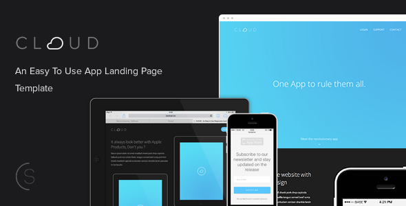 ThemeForest Cloud An Easy To Use App Landing Page 6561736