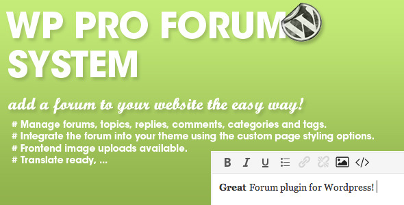 CodeCanyon WP Pro Forum System 6537267