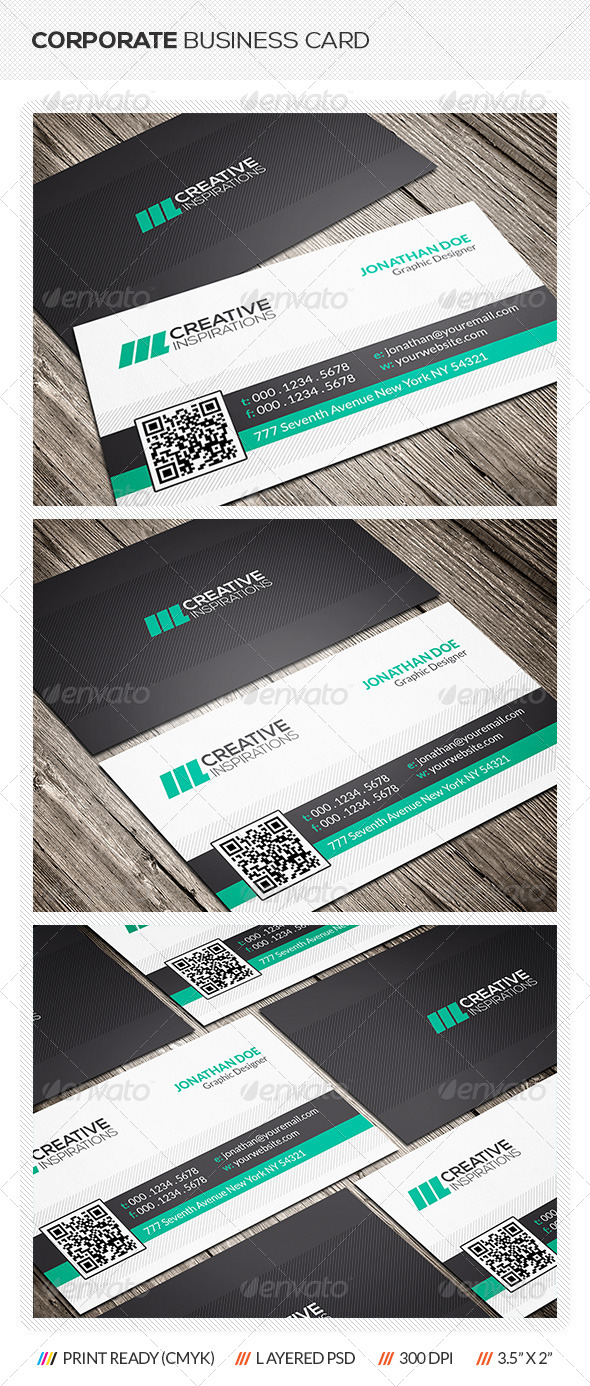 GraphicRiver Modern Corporate Business Card 6561821