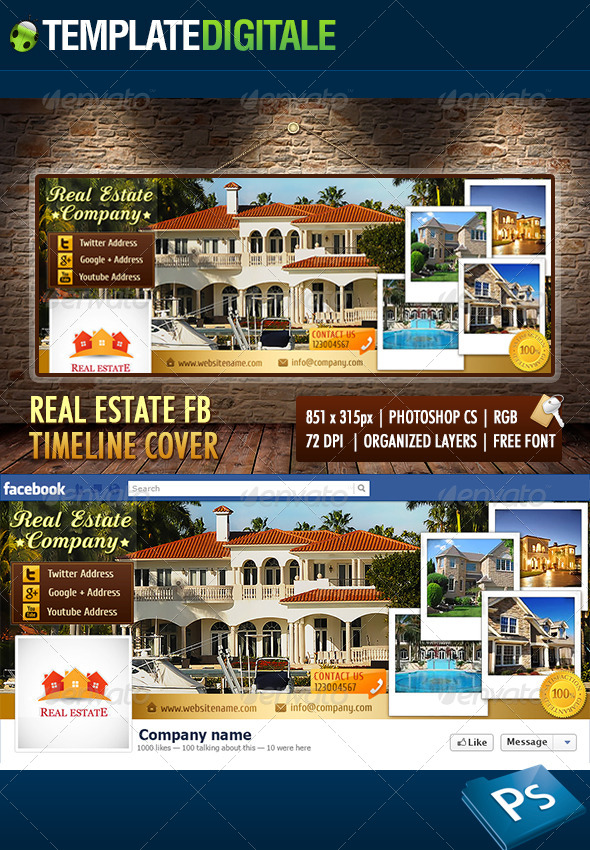 GraphicRiver Real Estate Facebook Timeline 6562010