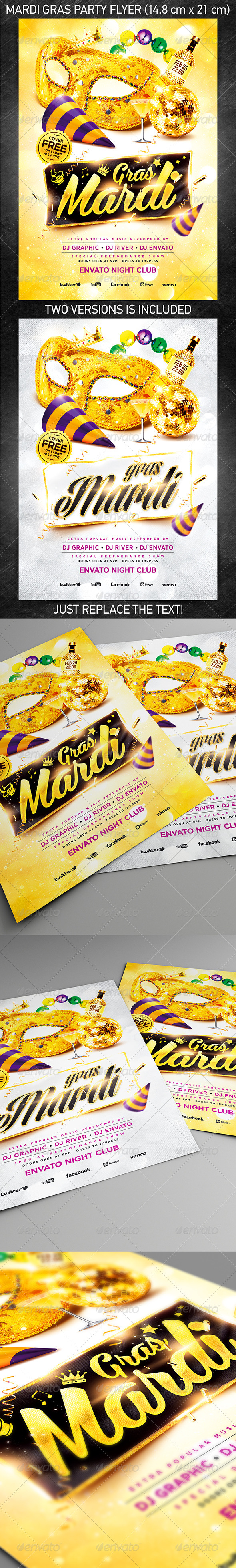 Mardi Gras Party Flyer Vol.3 - Holidays Events