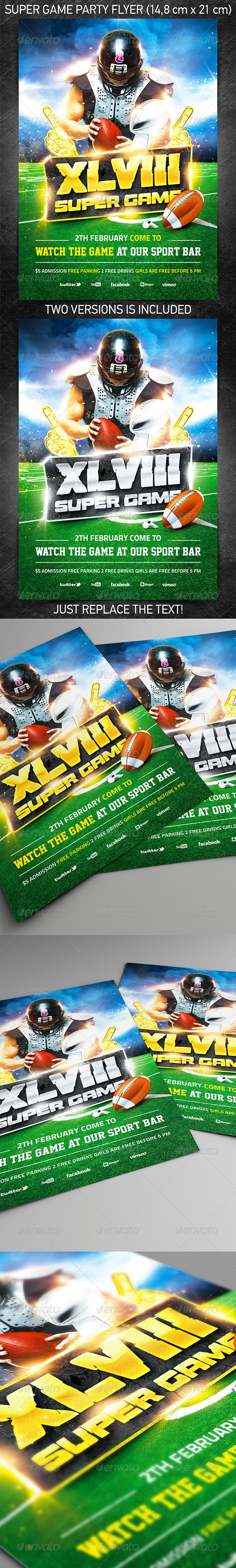 GraphicRiver American Football Super Game Flyer Vol.1 6535172