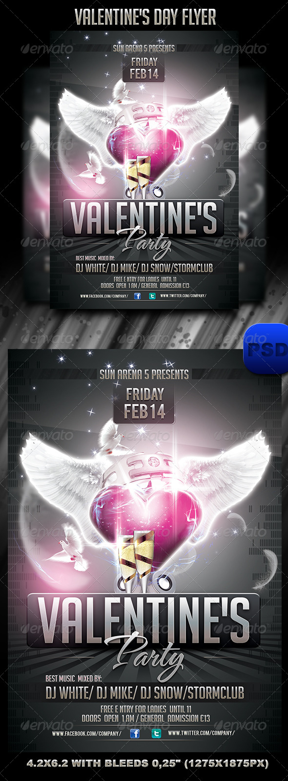 GraphicRiver Valentine s Day Flyer 6562143
