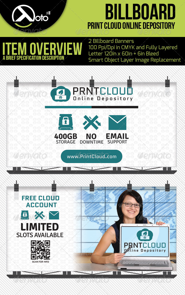 GraphicRiver Print Could Online Depository Billboards 6562283