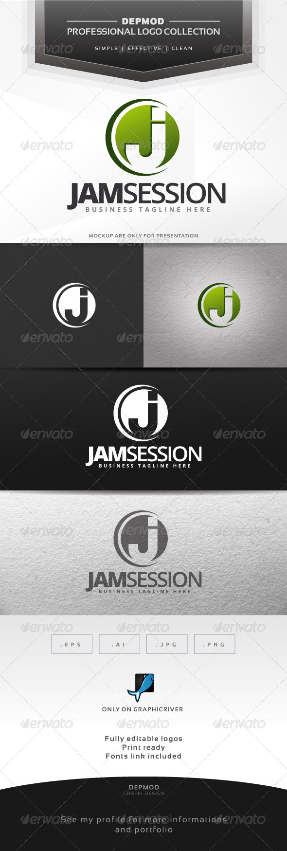 GraphicRiver Jam Session Logo 6562286