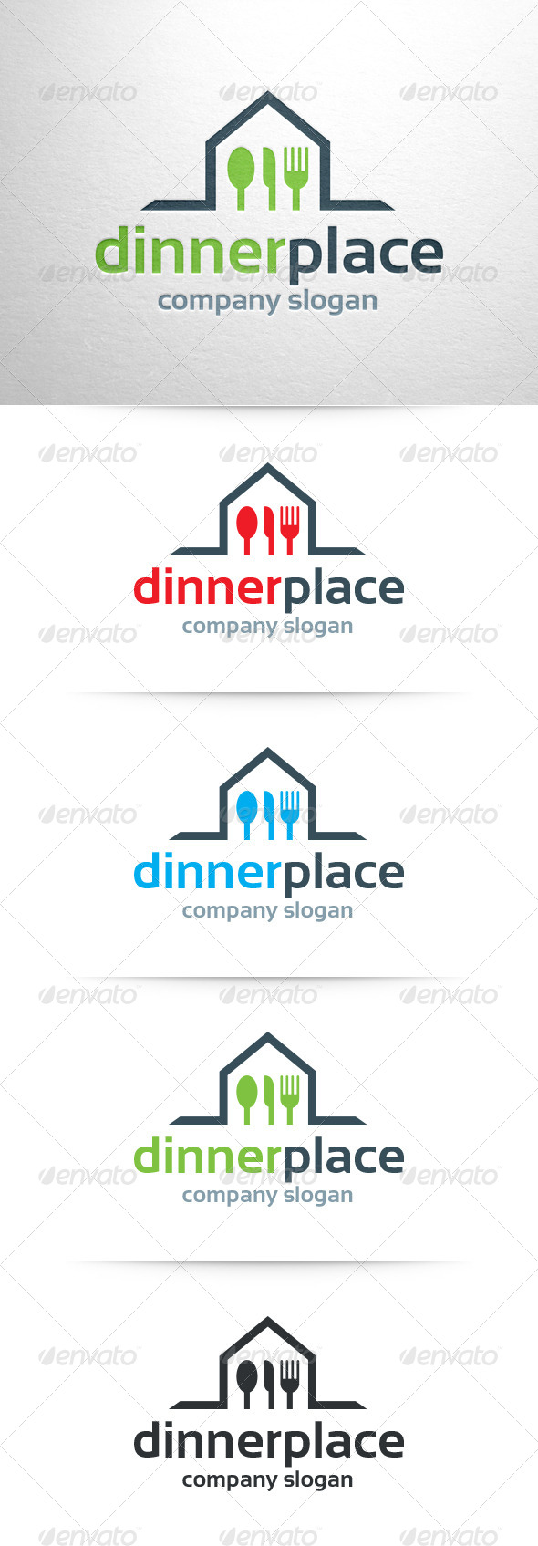 GraphicRiver Dinner Place Logo Template 6562407