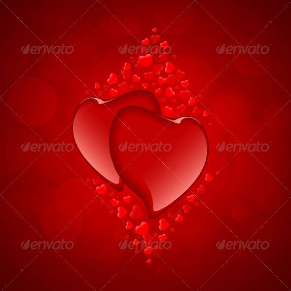 GraphicRiver Red Hearts Valentine s Day Background 6562413