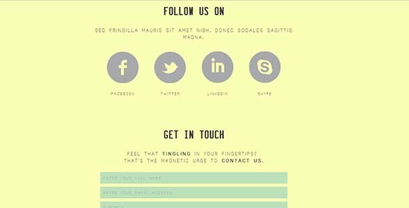 The Tree - Unique HTML/CSS One-Page Template